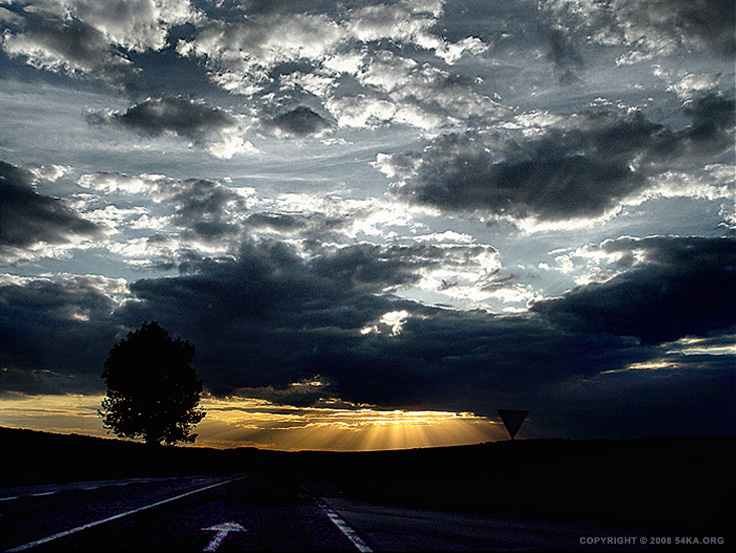 Sunset Road photography landscapes  Photo
