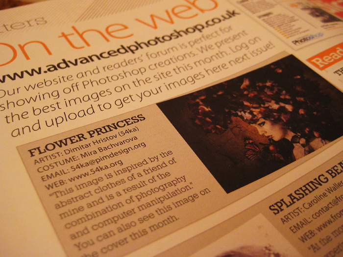 Flower Princess in Advanced Photoshop (issue 40) news  Photo