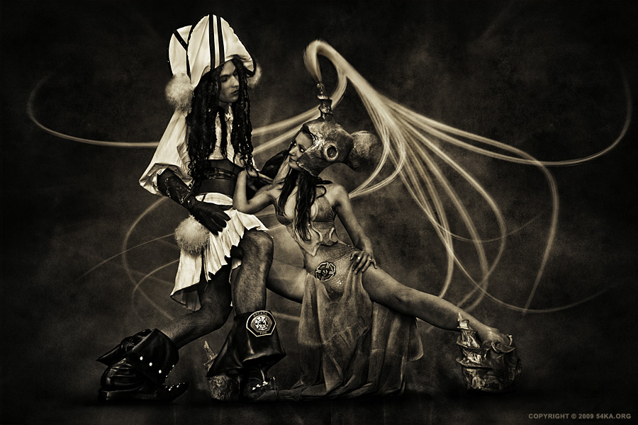 Wonderland   The Princess and the Pirate photography photomanipulation black and white  Photo