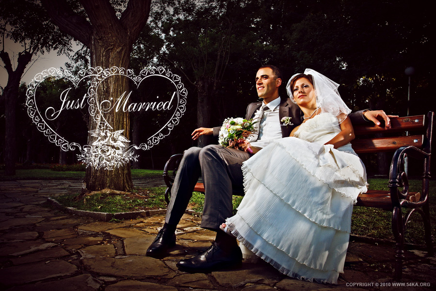 Just Married photography portraits featured fashion  Photo
