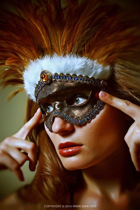Feather mask – eye mask photography fashion  Photo