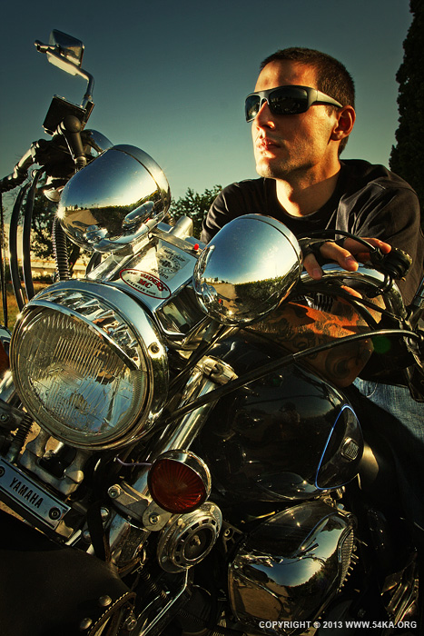 Biker Man Portrait   Motorcycle Lifestyles photography other best of  Photo