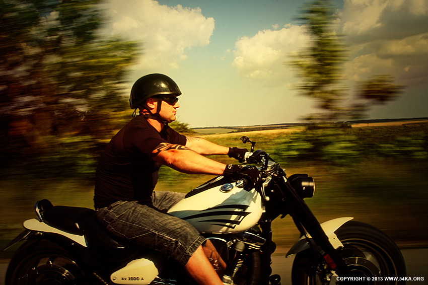 Biker on The Road photography portraits featured  Photo