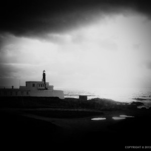 Black and White Lighthouse