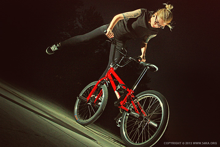 Bmx Girl Flatland II by 54ka :: Bmx Girl   Flatland II :: photography other