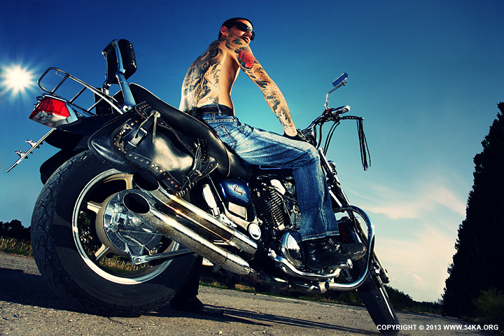 Tattooed Biker Man Biker Tattoos by 54ka :: Tattooed Biker Man   Biker Tattoos :: index