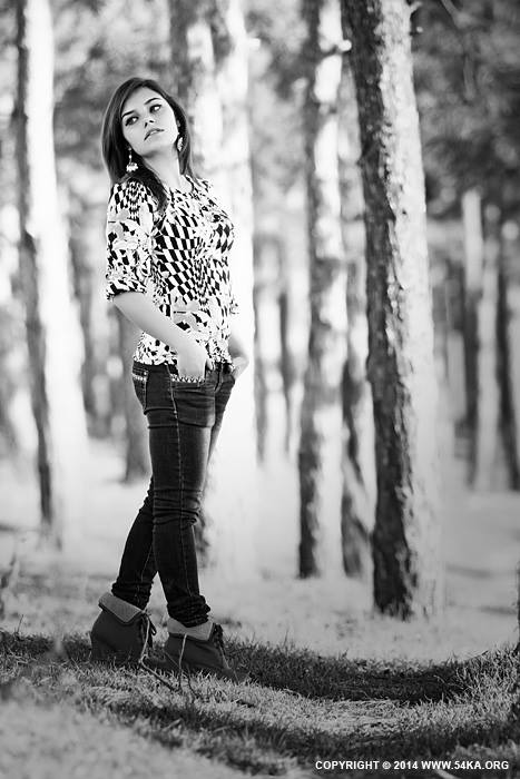 Black and White Girl Portrait photography portraits  Photo
