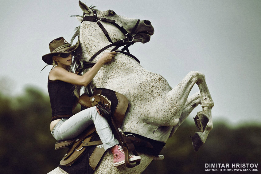 Beautiful Girl Riding White Horse photography equine photography animals  Photo