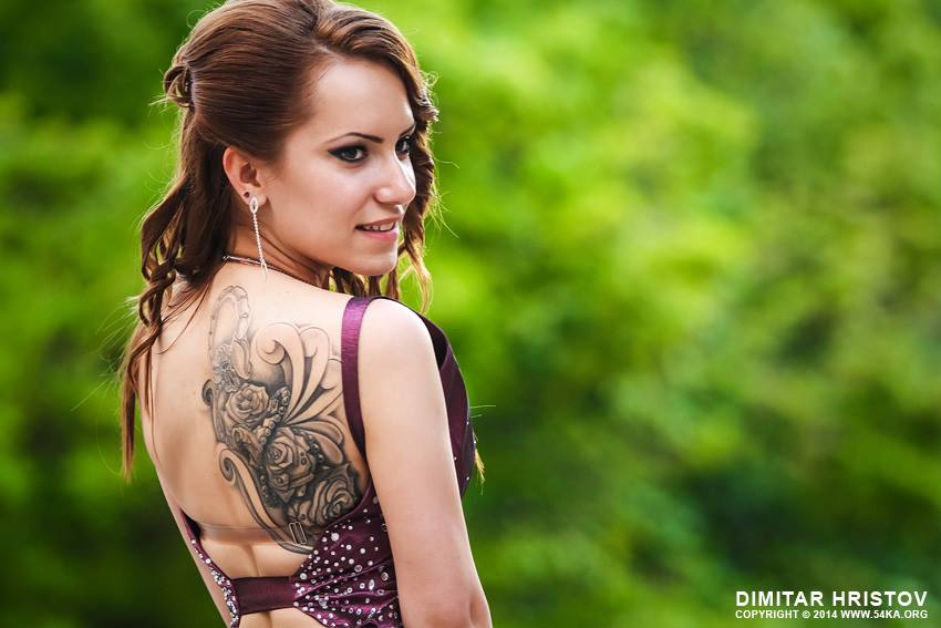 Portrait of woman with tattoo photography portraits  Photo