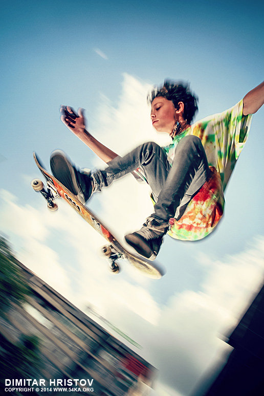 Skateboarder jumping photography other featured extreme  Photo