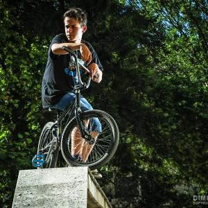 BMX Boy Outdoor Portrait