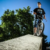 Portrait of the BMX cyclist