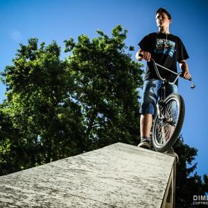 Portrait of the BMX cyclist