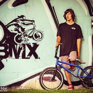 BMX Biker Portrait – Graffiti Art Wall