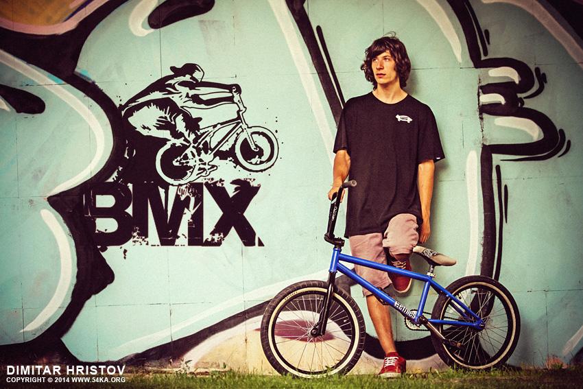 BMX Biker Portrait   Graffiti Art Wall photography portraits  Photo