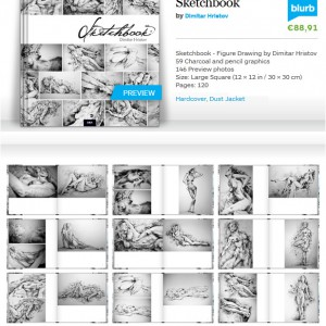 Sketchbook – The Book – Figure Drawing by Dimitar Hristov – 54ka