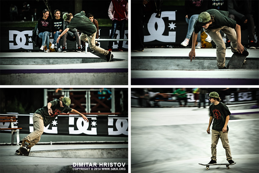 Slide trick skateboarder photography other extreme  Photo