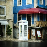 Street photography – white telephone box