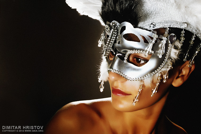 Angel Wings – Venetian Eye Masks Portrait photography featured fashion  Photo