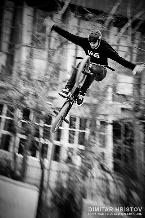 BMX biker flying jump photography other extreme  Photo