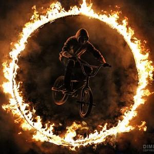 BMX extreme jump
