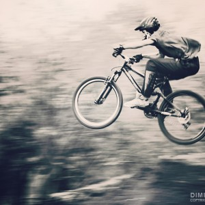 Mountain bike jump