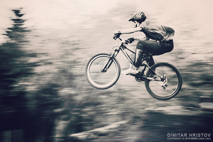 Mountain bike jump photography other featured extreme  Photo
