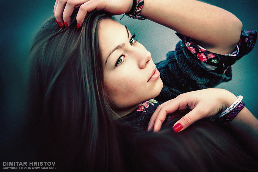Emotional beauty portrait photography portraits featured fashion  Photo