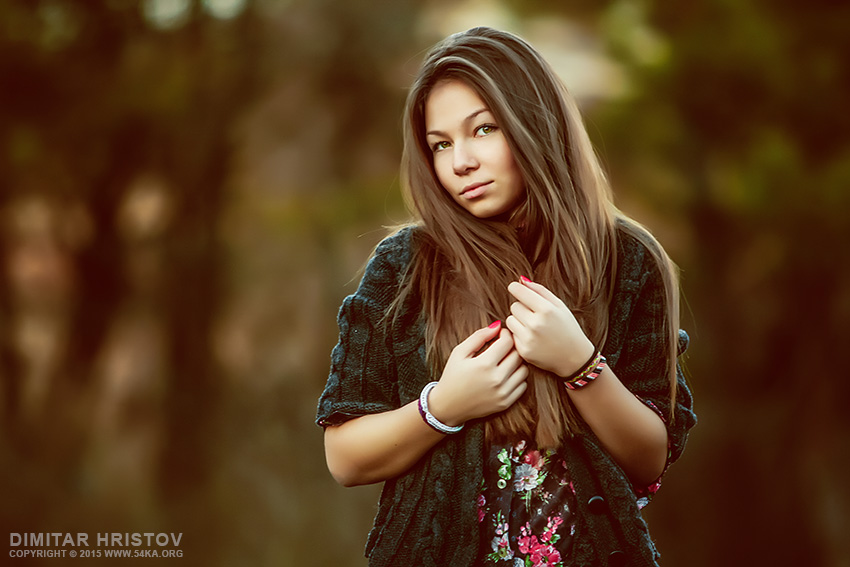 Portrait of charming woman with long hair photography portraits featured  Photo