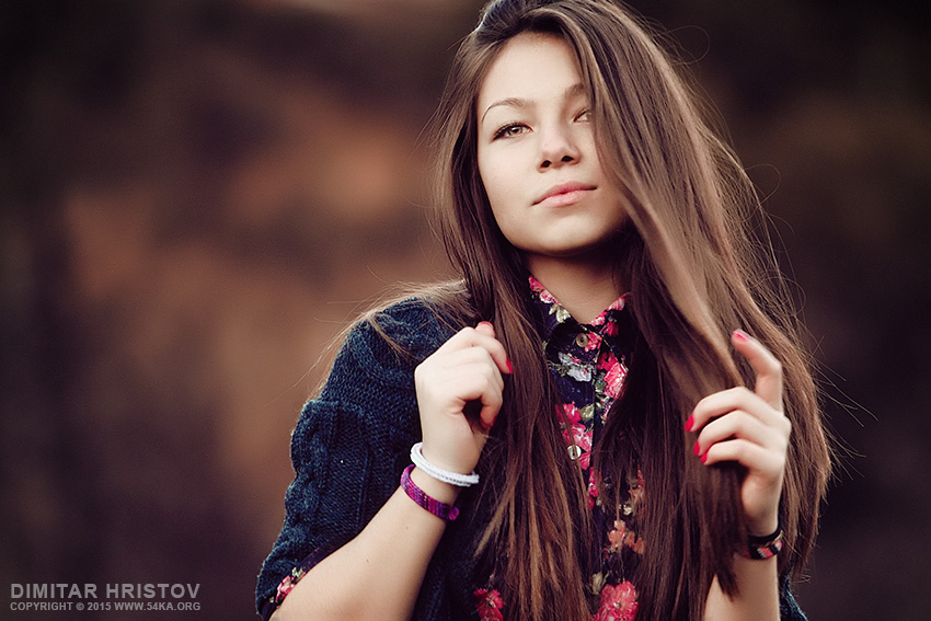 Young woman outdoors portrait photography portraits featured  Photo