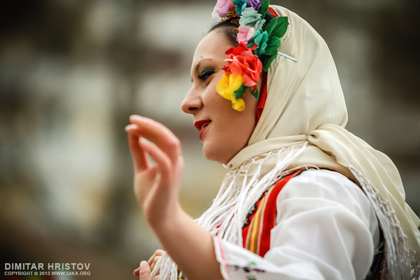 Bulgarian girl in traditional clothes photography portraits  Photo