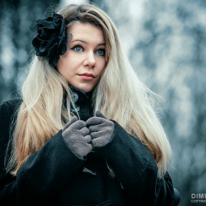 Girl portrait – eyes like a doll