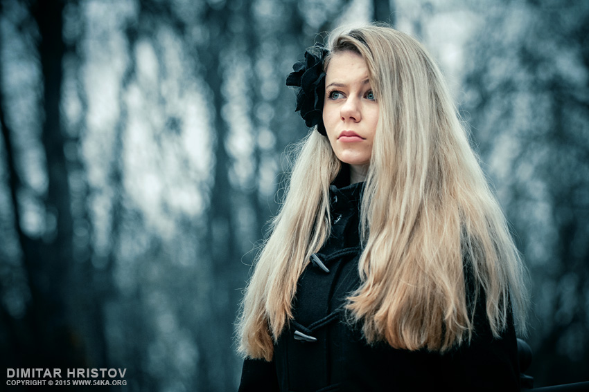Girl portrait like a winter princess photography portraits featured fashion  Photo