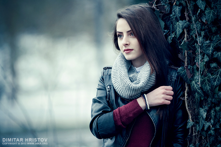 Sensual winter outdoor portrait photography portraits featured fashion  Photo