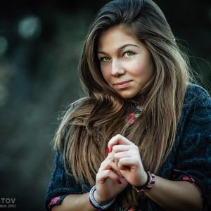 Shyly girl portrait