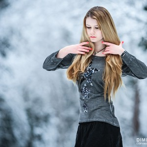 Young Girl Winter Portrait