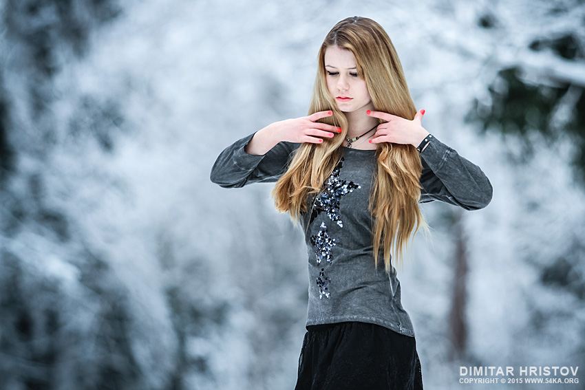 Young Girl Winter Portrait photography portraits featured fashion  Photo