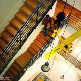 Museu dos Brinquedos – staircase construction in a modern interior
