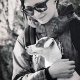 Girl With Puppy Dog – Portrait