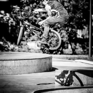 BMX jump trick
