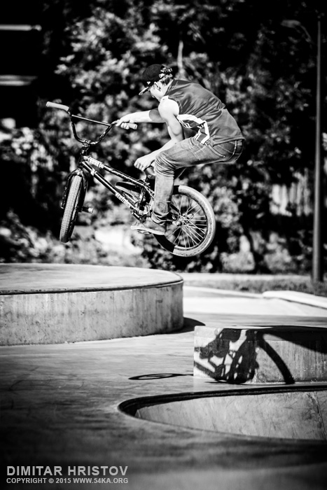 BMX jump trick photography other extreme black and white  Photo