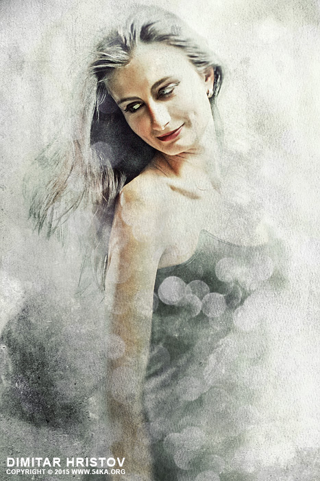 Portrait of a woman photography portraits photomanipulation featured fashion  Photo