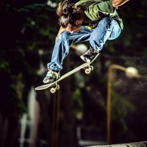 Skater freestyle high jump