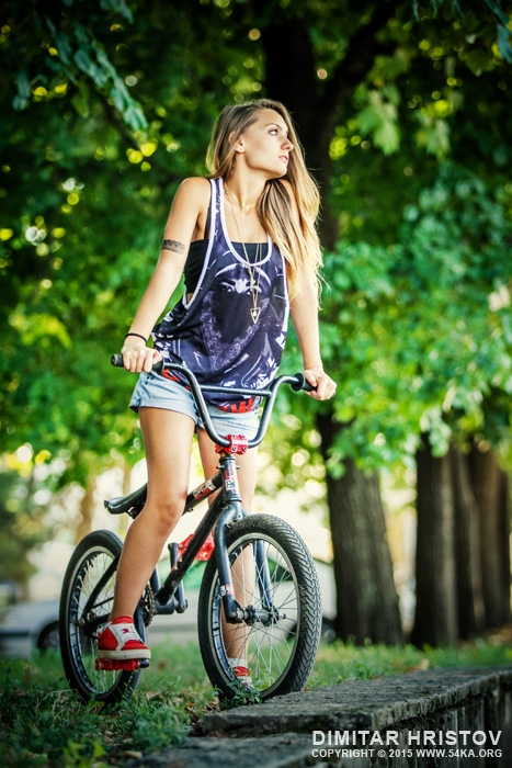 BMX Girl Portrait photography portraits featured extreme  Photo