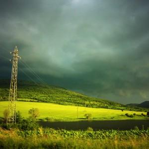 The Green hills landscape