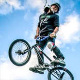 Freestyle bmx ramp jump