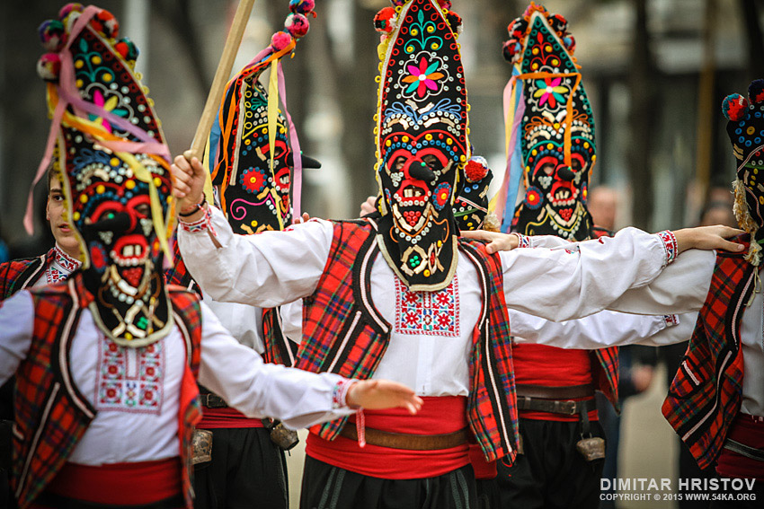 Traditional Kukeri players   customary traditional Bulgarian games photography other  Photo
