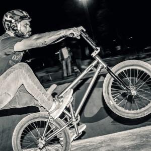 BMX Balance trick – one wheel