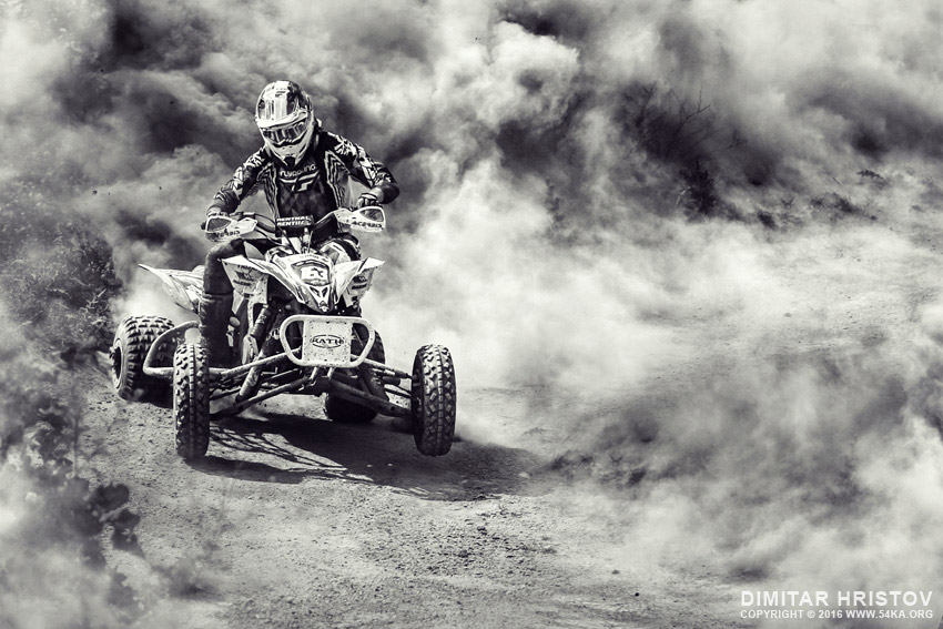 ATV 4x4 in Dust photography other extreme black and white  Photo