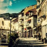 Beautiful street in the old city of Veliko Tarnovo
